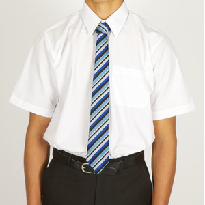 Short Sleeve Easycare Polycotton Shirts - Twin Packaging - Senior