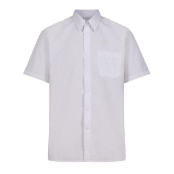 Short Sleeve Non Iron Polycotton Shirts - Twin Pack -junior Thumbnail